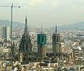 Catedral de Barcelona des de la torre de l'avinguda de les Drassanes.jpg