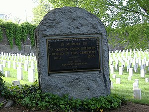 Louisville, Kentucky, in the American Civil War - Louisville's Union Monument, in the Cave Hill National Cemetery