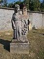 Cemetery, statue, woman with roses, 2018 Dombóvár.jpg
