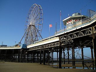 Blackpool's Central Pier in winter Central pier.jpg