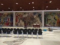 Chagall's Tapestry in Chagall Lounge in the Knesset.jpg