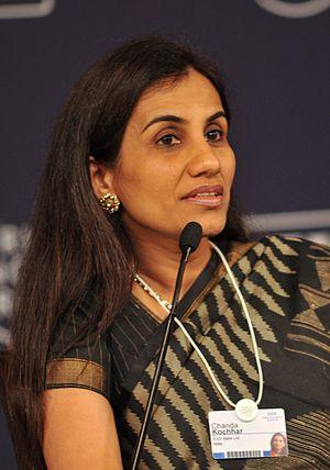 Chanda Kochhar - Image: Chanda Kochhar at the India Economic Summit 2009 cropped
