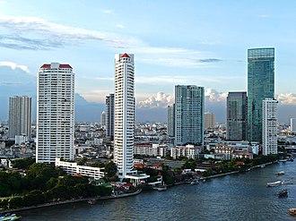 Khlong San District - Skyscrapers on the Chao Phraya River, Khlong San