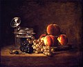 Chardin - Basket of Peaches and Red and White Grapes with Wine Cooler and Stemmed Glass, 1759.jpg
