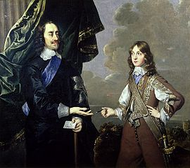 Portrait of Charles I, with his second son, James, Duke of York