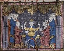 Charles Martel divise le royaume entre Pépin et Carloman.jpg