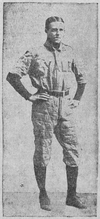 Charles de Saulles - Charles wearing his Yale baseball uniform