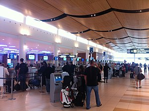 Winnipeg James Armstrong Richardson International Airport - Airline check-in counters at Winnipeg International Airport