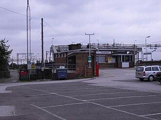 Cheddington railway station - Image: Cheddington station entrance