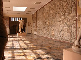 Archaeological Museum of Cherchell - Image: Cherchell museum wall mosaic