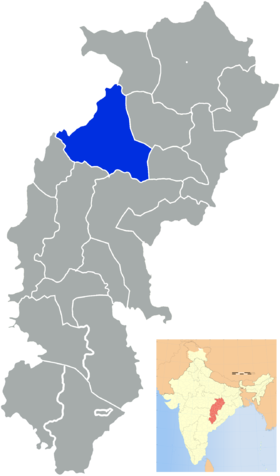 Localisation de District de Surgujaसरगुजा जिला