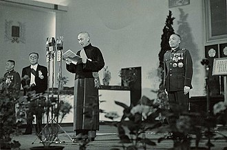 President of the Republic of China - Generalissimo Chiang Kai-shek and Army General Li Tsung-jen were elected by the National Assembly to be the first-term president and vice president on 20 May 1948.