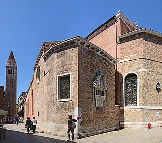 San Polo (church) - Southern side with bell tower
