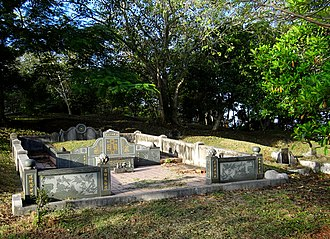 Bukit Cina - A well-kept, but otherwise typical grave.