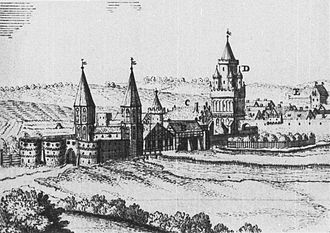 Chojna - View from about 1710