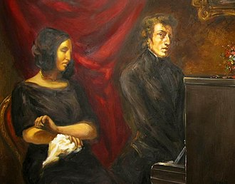 Portrait of Frédéric Chopin and George Sand - Modern hypothetical reconstruction of the painting