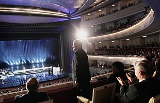 International Chopin Piano Competition - Polish President Bronisław Komorowski at the Laureates' Concert, October 2010