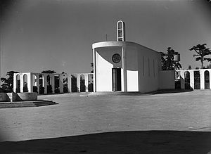 Italian settlers in Libya - The modernist Catholic Church of Massah (formerly Villaggio Luigi Razza in 1940