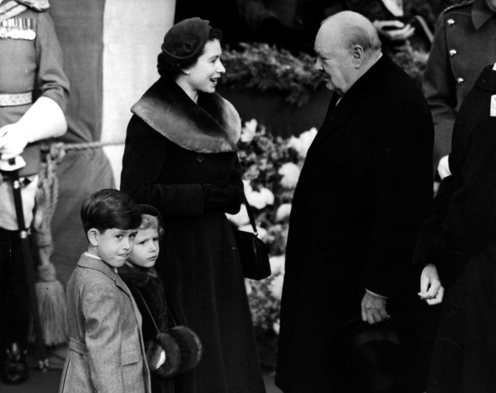 Churchill queen Elizabeth 1953