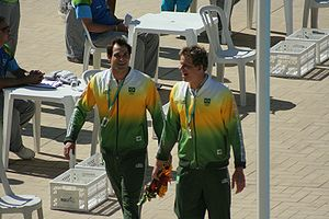 Nicholas Santos - Santos and César Cielo at 2007 Pan American Games