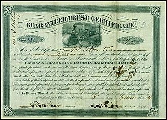 Cincinnati, Hamilton and Dayton Railway (1846–1917) - Image: Cincinnati, Hamilton & Dayton RR 1883