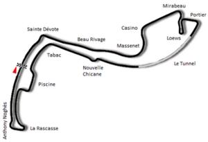 1989 Monaco Grand Prix - Image: Circuit de Monaco 1986
