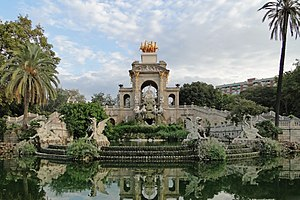 English: Fountain of Ciutadella Park, Barcelon...