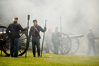 Field artillery in the American Civil War - Firing demonstrations of Civil War era ordnance rifles at the Springfield Armory, June 2010