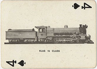 South African Class 16 4-6-2 - Image: Class 16 790 (4 6 2) Playing Cards