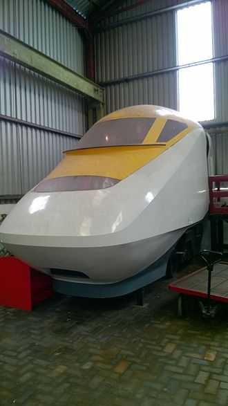 Midland Railway – Butterley - Mock up of the Class 93 locomotive, located in the Matthew Kirtley Museum at Swanwick