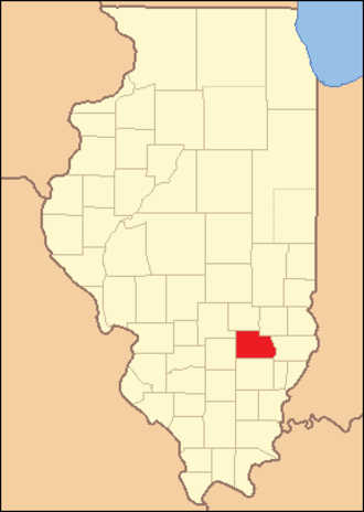 Clay County, Illinois - Image: Clay County Illinois 1831