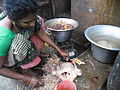 Cleaning chicken meat1.JPG
