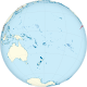 Clipperton Island on the globe (small islands magnified) (Polynesia centered).svg