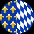 CoA of Isabeau of Bavaria (round shild).png