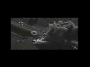 File:Coalition airstrike against ISIL near Kobane on VBIED.webm