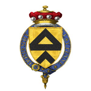 John de Lisle, 2nd Baron Lisle (second creation) - Arms of Sir John de Lisle, 2nd Baron Lisle, KG -- or a fess between two chevrons sable