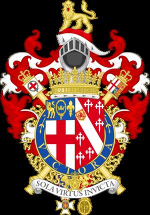 Algar Howard - Coat of arms of Sir Algar Howard as Garter King of Arms.