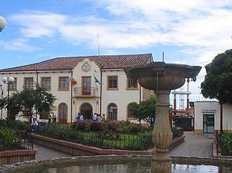 Cogua - Central square of Cogua