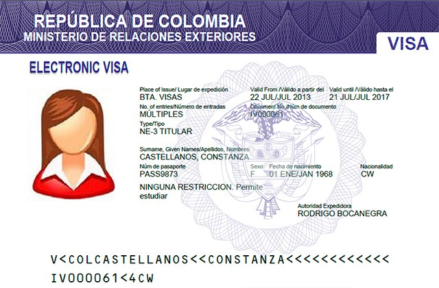 Colombian Electronic Visa