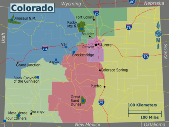 Rattlesnakes In Colorado Map.Colorado Travel Guide At Wikivoyage