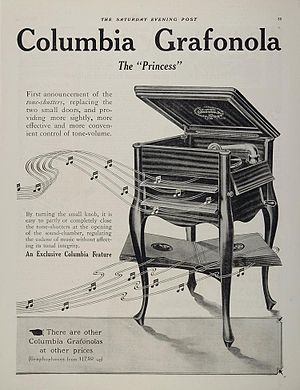 Graphophone - A 1912 advertisement for the Columbia Grafonola
