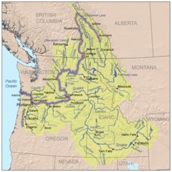 אגן הניקוז של נהר קולומביה