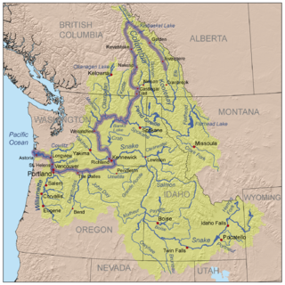 drainage basin of the Columbia River in western North America