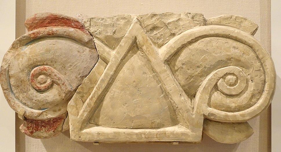 Column capital fragment, Megiddo, Stratum VA-IVB, Iron Age IIA, 975-925 BC, limestone - Oriental Institute Museum, University of Chicago - DSC07742