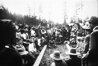 Colville Indian Reservation - Image: Colville stick game, Colville Reservation, ca. 1908