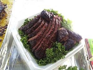Burnt ends - Beef brisket with burnt ends.