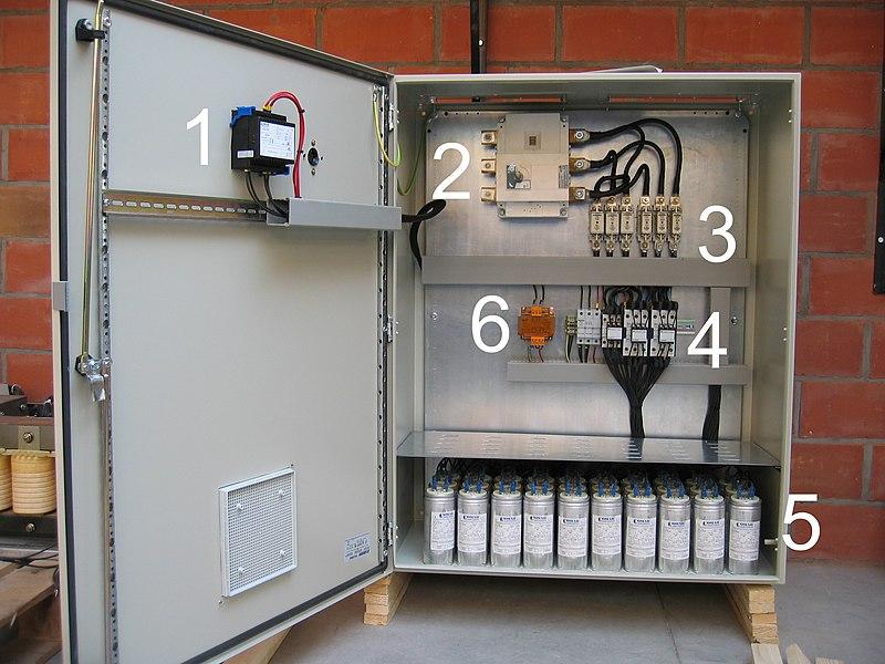 File Condensatorenbatterij Jpg Wikimedia Commons