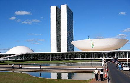 The National Congress of Brazil, designed by Oscar Niemeyer