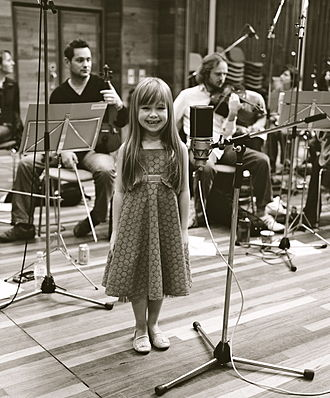 Connie Talbot - Talbot at the Olympic Studios during the recording of Over the Rainbow