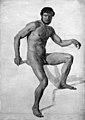 Constantin Hansen - Siddende nøgen mandlig model - KMS6912 - Statens Museum for Kunst.jpg